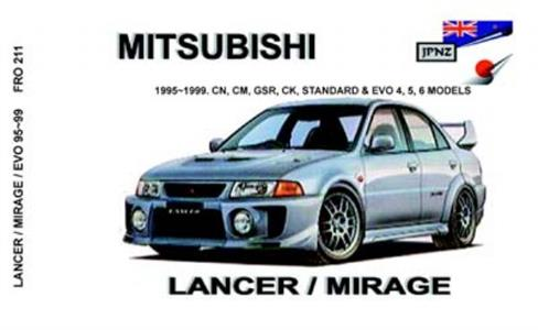Mitsubishi Lancer & Mirage Incl Evo 4 5 & 6 1995-99 Translated Owner's Handbook
