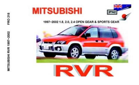 Mitsubishi RVR 1997-2002 Translated Owner's Handbook
