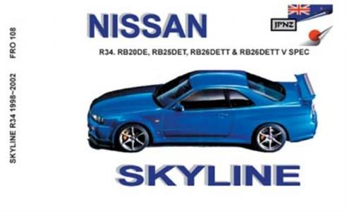 Nissan Skyline R34 1998-2002 Translated Owner's Handbook