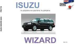 Isuzu Wizard 1998-2004 Translated Owner's Handbook