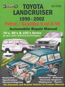 Toyota Landcruiser Petrol 1990-2007 Repair Manual 6 Cylinder & V8 70 80 100 Series Incl Lexus LX450/470
