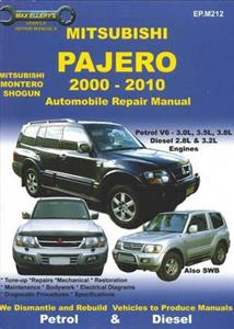 Mitsubishi Pajero 2000-10 Repair Manual 3.0 3.5 3.8 Petrol 2.8 3.2 Diesel