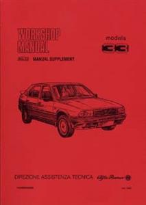 ALFA ROMEO 33 1986on Shop Manual Supplement