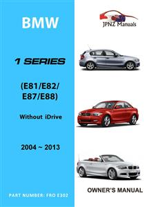 BMW 1 Series 2004-13 Translated Owners Handbook