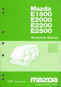 Mazda E Series (E1800/E2000/E2200/E2500) 1997-99 Factory Workshop Manual 2 Volume Set SECOND-HAND