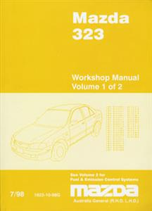 Mazda 323 1998-2003 Factory Workshop Manual 7 Volume Set SECOND-HAND