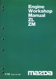 Mazda ZL 1.5 & ZM 1.6 Engine Factory Workshop Manual Supplement SECOND-HAND