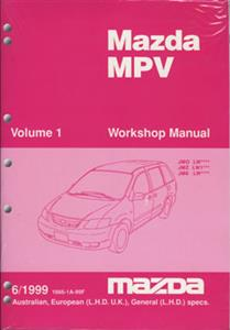 Mazda MPV 1999-2002 Factory Workshop Manual 5 Volume Set SECOND-HAND