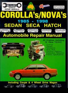 Toyota Corolla 1985-1998 Repair Manual Petrol Incl Sprinter Carib