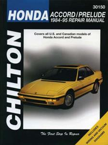 Honda Accord And Prelude 1984-95 Repair Manual