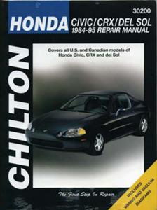 Honda Civic CRX And Del Sol 1984-95 Repair Manual