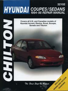 Hyundai 1994-98 Coupes And Sedans Repair Manual - Accent Elantra Excel Sonata & Tiburon