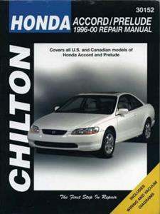 Honda Accord And Prelude 1996-00 Repair Manual