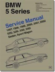 BMW 5 Series 1997-02 E39 Petrol Factory Service Manual 2 Vol Set 525i 528i 530i 540i