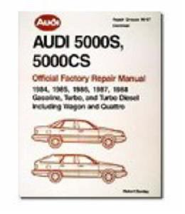 Audi 5000S & 5000CS (NZ 100 & 200) Official Factory Repair Manual 1984-1988 Petrol & Diesel Including Wagon and Quattro 2 Volume Set