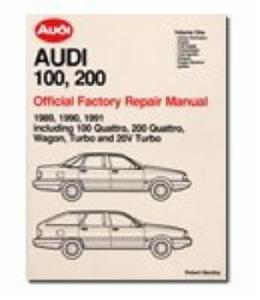 Audi 100 & 200 1989-1991 Official Factory Repair Manual 3 Volume Set Incl Quattro models