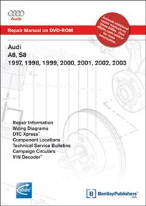 Audi A8 1997-2003 & S8 2001-03 Factory Repair Manual DVD-ROM for Windows 2000/XP