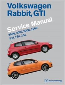Volkswagen Golf Rabbit And GTi 2006-09 Official Service Manual US Spec 2.0 Turbo & 2.5 Petrol