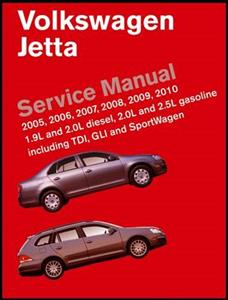 Volkswagen Jetta 2005-2010 Official Service Manual US Spec 2.0 2.5 Petrol 1.9 2.0 Diesel
