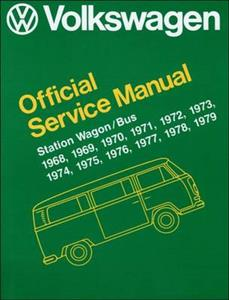 Volkswagen Transporter/Kombi Type 2 1968-1979 Official Workshop Manual