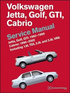Volkswagen Jetta Golf & GTI 1993-1999 And Cabrio 1995-2002 Service Manual