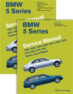 BMW 5 Series 1997-03 E39 Petrol Factory Service Manual 2 Vol Set 525i 528i 530i 540i 2nd Ed