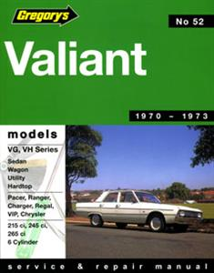 Valiant VG-VH 1970-73 6cyl Repair Manual