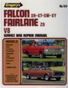 Ford Falcon XR XT XW XY & Fairlane ZD V8 1966-72 Repair Manual Incl Fairmont & 500