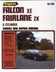 Ford Falcon XE 1982-84 6CYL Incl Fairlane ZK Repair Manual