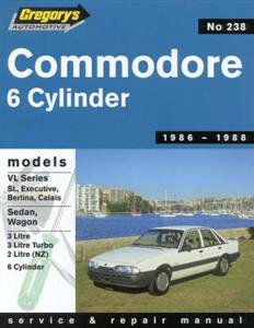 Holden Commodore VL 1986-88 Repair Manual 2.0 & 3.0 NOT V8