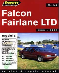 Ford Falcon EA & EB1 1988-92 6 Cylinder Repair Manual Incl Fairlane NA & NC and LTD DA & DC OUT OF PRINT