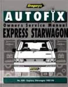 Mitsubishi Express & Starwagon (NZ L300) Petrol 1987-94 Owner's Service Manual