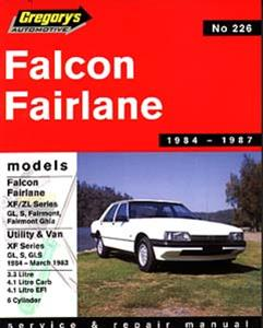 Ford Falcon XF 1984-87 6 Cylinder Repair Manual Incl Fairlane ZL and XF Falcon Ute 1984-93