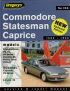 Holden Commodore & Statesman VN VG VP V8 1989-93 OUT OF PRINT