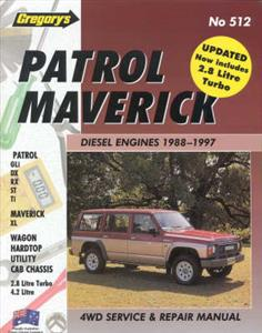 Nissan Patrol Diesel 1988-1997 Repair Manual 2.8 & 4.2 OUT OF PRINT