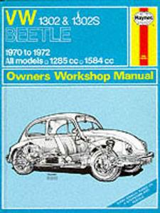 VW Beetle 1302 1302S 1970-72 Repair Manual
