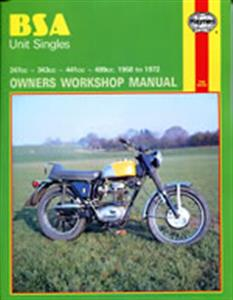 BSA Unit Singles 1958-72 Repair Manual
