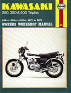 Kawasaki 250 350 & 400 Triples 1972-79 Repair Manual