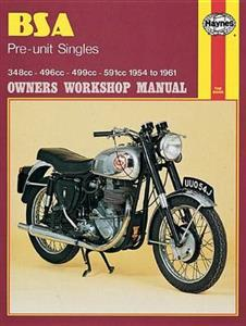 BSA Pre-Unit Singles 1954-61 Repair Manual