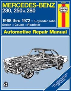 Mercedes Benz 230 250 280 W108 W114 6 Cylinder 1968-72 Repair Manual