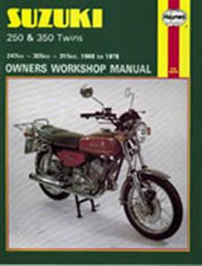 Suzuki 250 & 350 Twins 1968-78 Repair Manual
