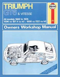 Triumph GT6 And Vitesse 1968-74 Repair Manual
