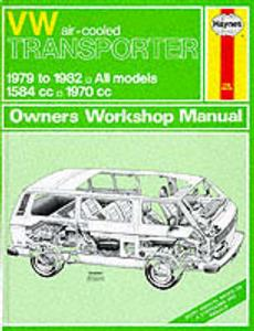 VW Transporter 1979-82 Repair Manual Air Cooled Petrol