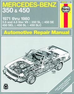 Mercedes Benz 350 450 V8 1971-80 Repair Manual 350SL 450SL 450SE 450SEL 450SLC R/C107 & W116