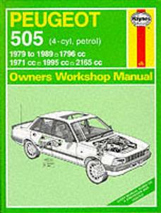 Peugeot 505 1979-89 Repair Manual Petrol