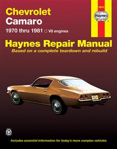 Chevrolet Camaro V8 1970-81 Repair Manual