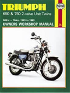 Triumph 650 & 750 2 Valve Unit Twins 1963-83 Repair Manual