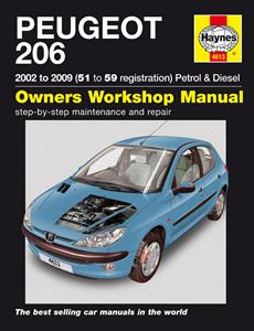Peugeot 206 2002-09 Repair Manual Petrol & Diesel