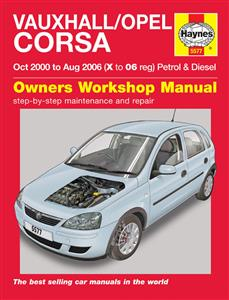 Vauxhall/Opel Corsa 2000-06 Repair Manual (NZ Holden Barina) Petrol & 1.7 Diesel