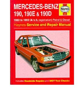 Mercedes Benz 190 190E 190D W201 1983-1993 Repair Manual Petrol & Diesel Not Cosworth